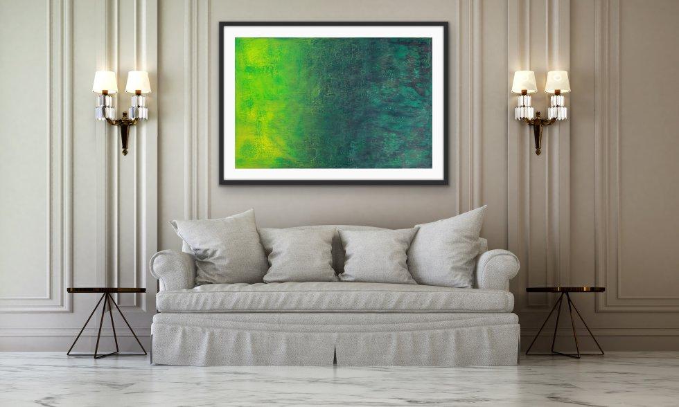 Emerald Glows - Print - Home Interior | AlessandraViola.co.uk