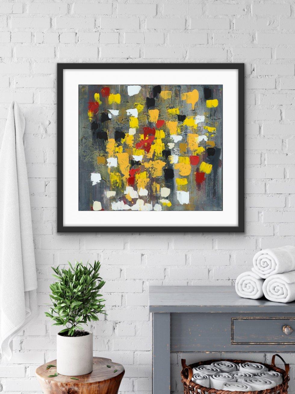 Colourful Rain - Print - Home Interior   AlessandraViola.co.uk