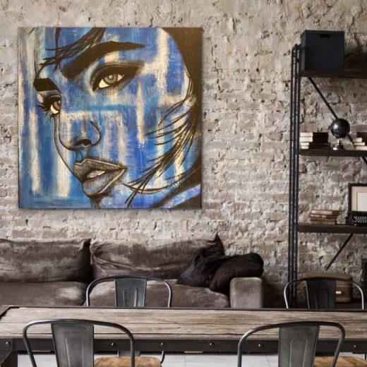 Woman in Blue - Home Interior | AlessandraViola.co.uk