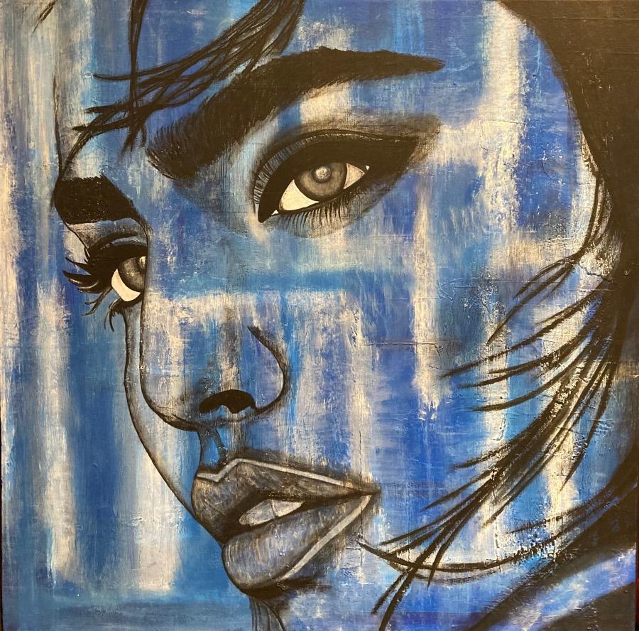 Woman in Blue    AlessandraViola.co.uk