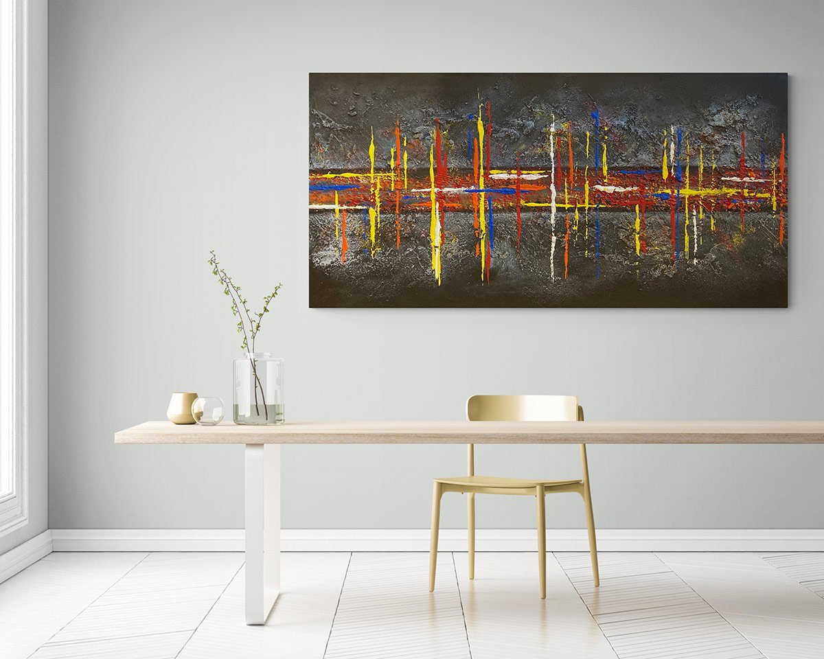 Buy original abstract artwork to decorate your dining room | AlessandraViola.co.uk